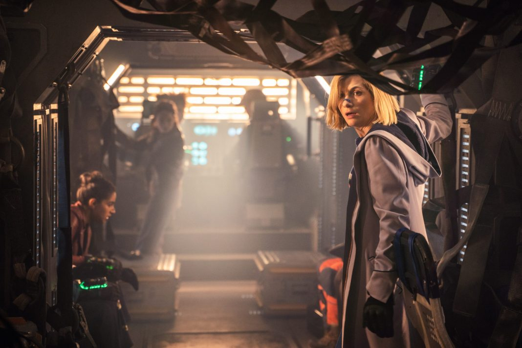 The Doctor (JODIE WHITTAKER) in Doctor Who: Orphan 55 - The Doctor (JODIE WHITTAKER) in Doctor Who: Orphan 55- (C) BBC - Photographer: Ben Blackall