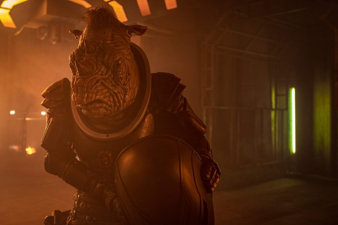 Judoon Captain Pol-Kon-Don -(C) BBC - Photographer: James Pardon Doctor Who Series 12 Fugitive of the Judoon
