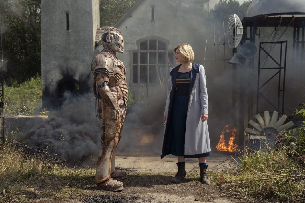 Doctor Who S12E09- Ascension of the Cybermen - Patrick O'Kane as Ashad, Jodie Whittaker as The Doctorr - Photo Credit: Ben Blackall/BBC Studios/BBC America