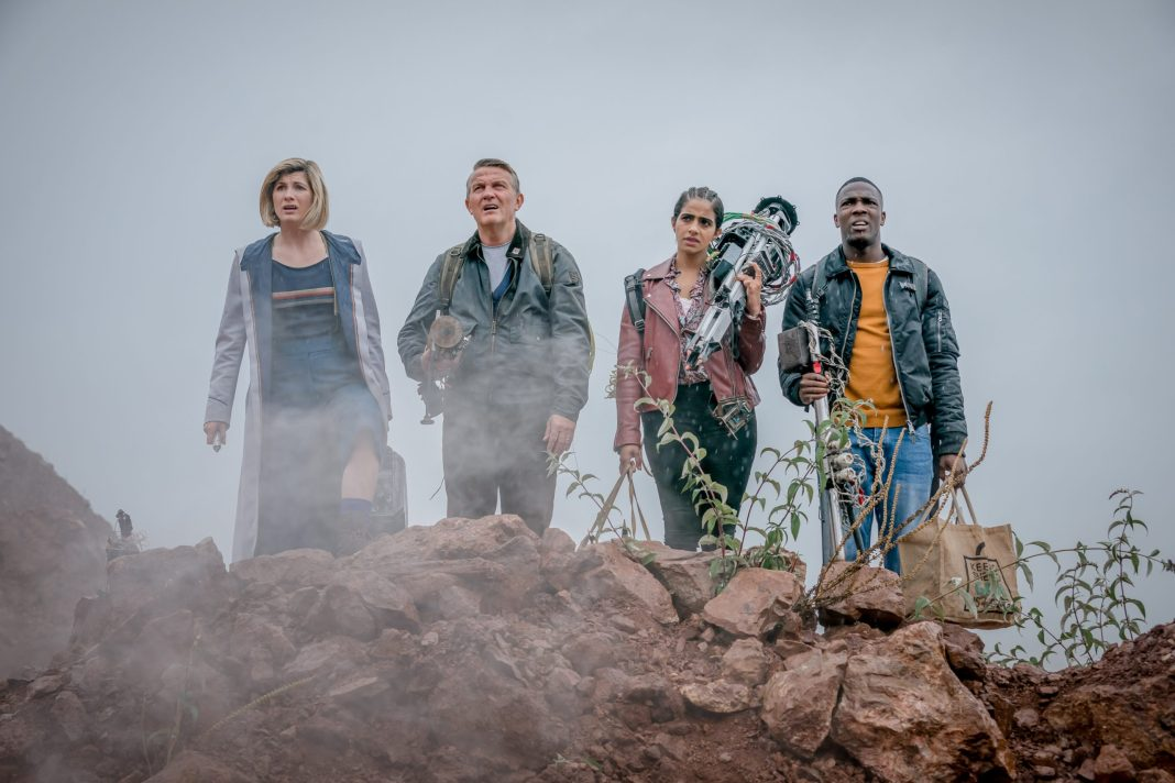 Doctor Who S12E09- Ascension of the Cybermen -Jodie Whittaker as The Doctor, Bradley Walsh as Graham, Mandip Gill as Yaz, Tosin Cole as Ryan - Photo Credit: Ben Blackall/BBC Studios/BBC America