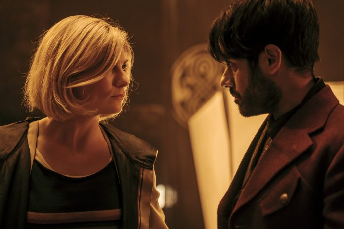 Doctor Who - S12E10 - The Timeless Children - Jodie Whittaker as The Doctor, Sacha Dhawan as The Master- Photo Credit: James Pardon/BBC Studios/BBC America