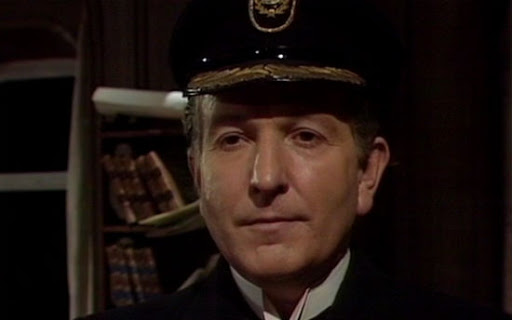 Keith Barron as the Eternal styling himself as 'Captain Striker' in Enlightenment (c) BBC Studios