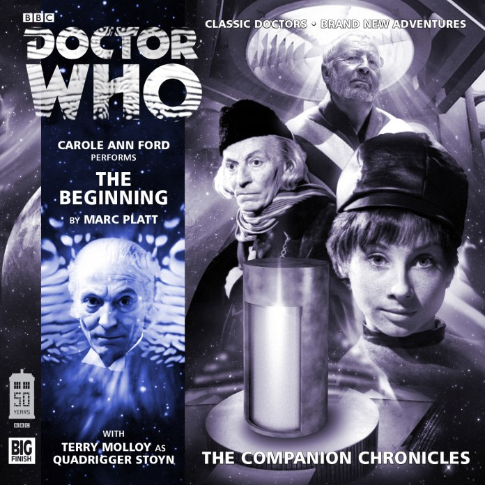 Doctor Who - The Companion Chronicles: The Beginning. Cover by Damien May and Mark Pilbeam (c) Big Finish Productions Susan First Doctor Carole Ann Ford Terry Molloy