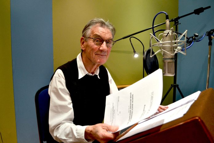 Sir Michael Palin at the recording of Torchwood: Tropical Beach Sounds and Other Soundscapes #4 (c) Big Finish Doctor Who