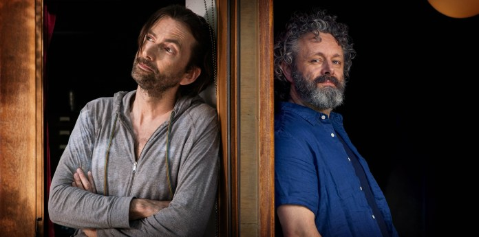 BBC One - Staged - David Tennant and Michael Sheen (C) GCB Films/Infinity Hill