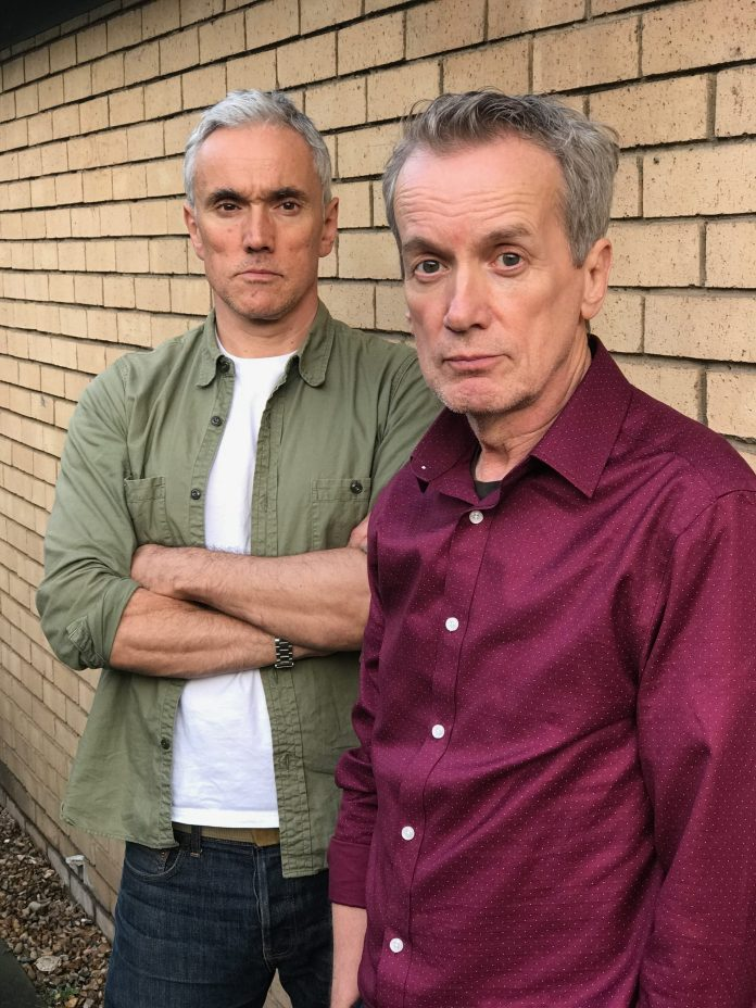 Ben Miles and Frank Skinner at the recording of Callan Volume 2 (c) Big Finish Productions British Spy Drama Classic TV Edward Woodword Russell Hunter Lonely Audio