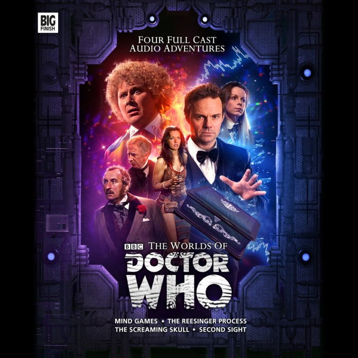 From the Worlds of Doctor Who cover (c) Big Finish Productions Sixth Doctor Jago Litefoot Leela Romana Colin Baker Louise Jameson Lalla Ward