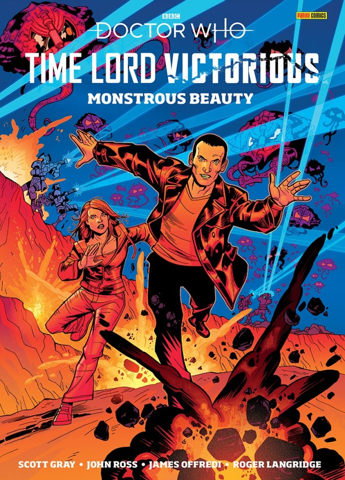 The cover to Time Lord Victorious: Monsterous Beauty #1, which comes polybagged with DWM 556. Art by John Ross (c) Panini Doctor Who Magazine Ninth Doctor Rose Tyler
