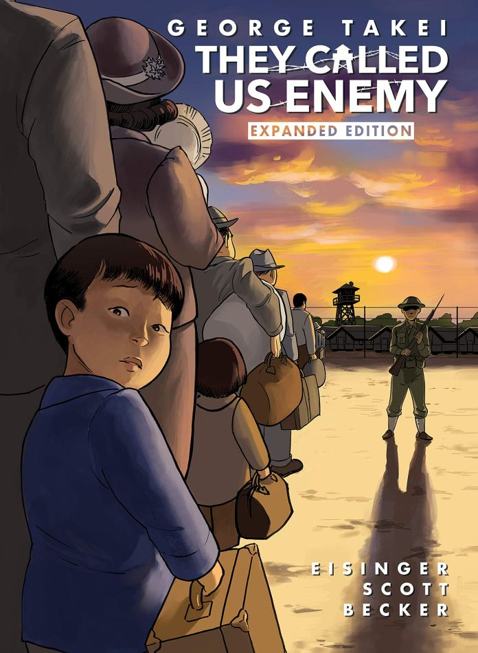 They Called Us Enemy - Takei's autobiographical graphic novel account of his time in internment (c) Top Shelf George Takei WWII World War Two Japanese Internment Star Trek Sulu