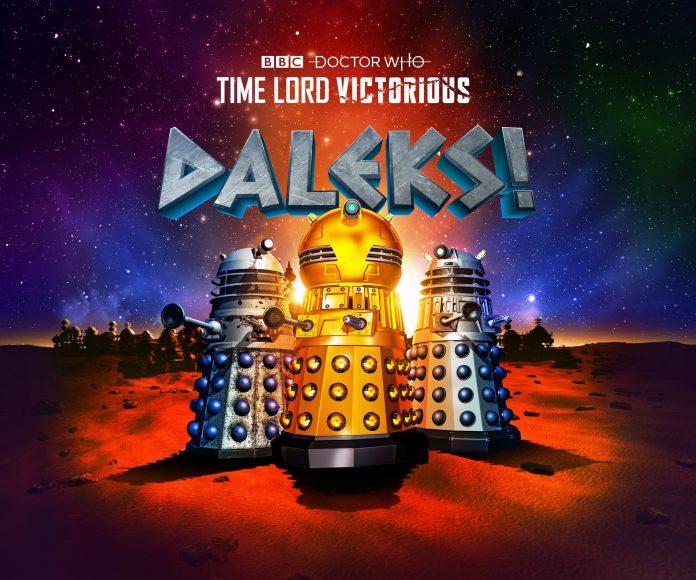 Doctor Who - Time Lord Victorious - Daleks! Golden Emperor Dalek Emperor Dalek Prime Strategist Animation Web Cartoon BBC Studios Skaro