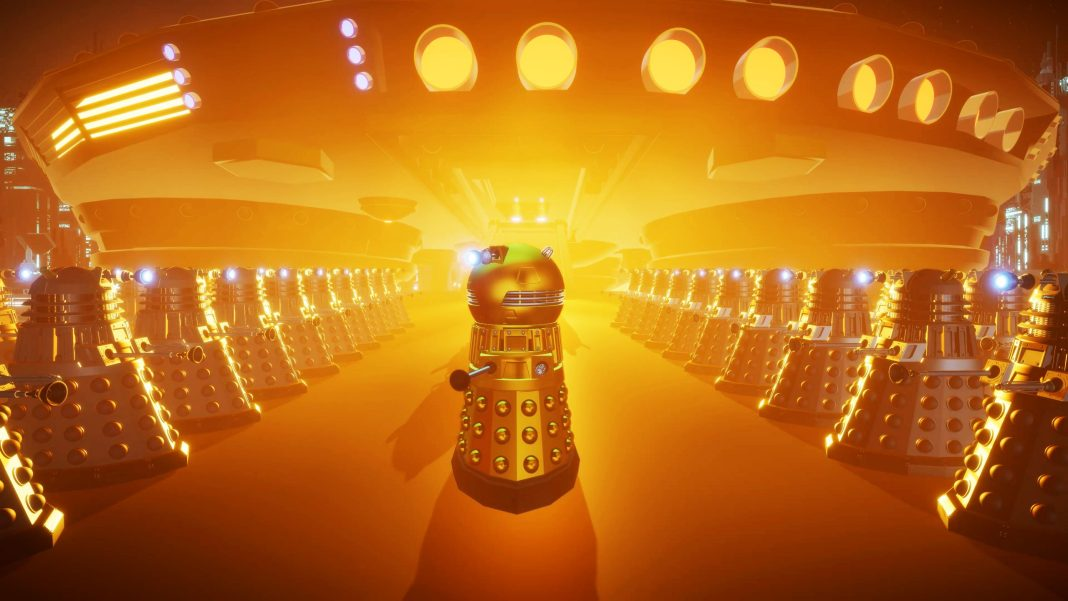 Doctor Who - Time Lord Victorious - Daleks! The Dalek Emperor inspects his troops in a scene from The Archive of Islos