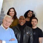 Derek Jacobi (The Master), Sandra Huggett (Dorada), Colin McFarlane (Morski), Luyanda Unati Lewis-Nyawo (The Scaramancer) and Alex Jordan (Domdaniel Computer) 2