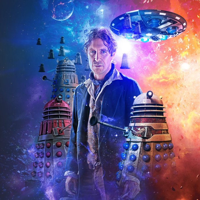 Art by Lee Binding. (c) Big Finish Productions Doctor Who Eighth Doctor Daleks