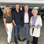 Jemma Powell (Barbara), Jamie Glover (Ian), David Bradley (Dr. Who), and Wendy Craig (Queen Elizabeth I) at the recording of The Hollow Crown (c) Big Finish Productions Doctor Who The First Doctor Adventures An Adventure in Space and Time