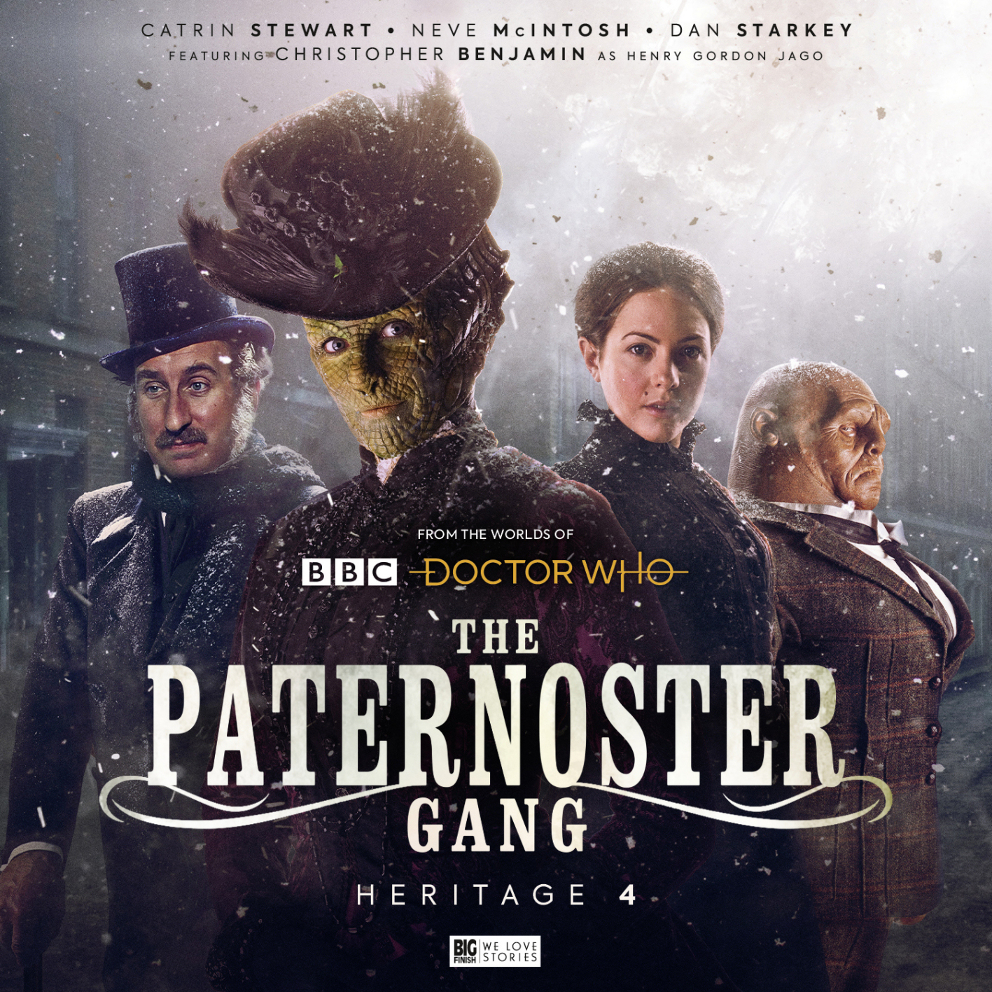 Paternoster Gang: Heritage 4 (c) Big Finish Productions Doctor Who Madame Vastra Jago & Litefoot Jenny Flint Sontaran Strax