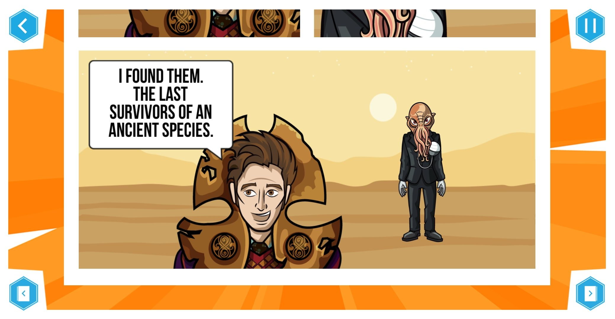 Time Lord Victorious: Tales of the Dark Times consists of five mini-comics made in the Comic Creator App (c) BBC Studios