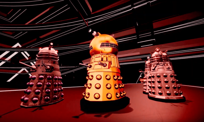 The Dalek Strategist, Emperor, Executioner and Drone. (c) BBC Studios