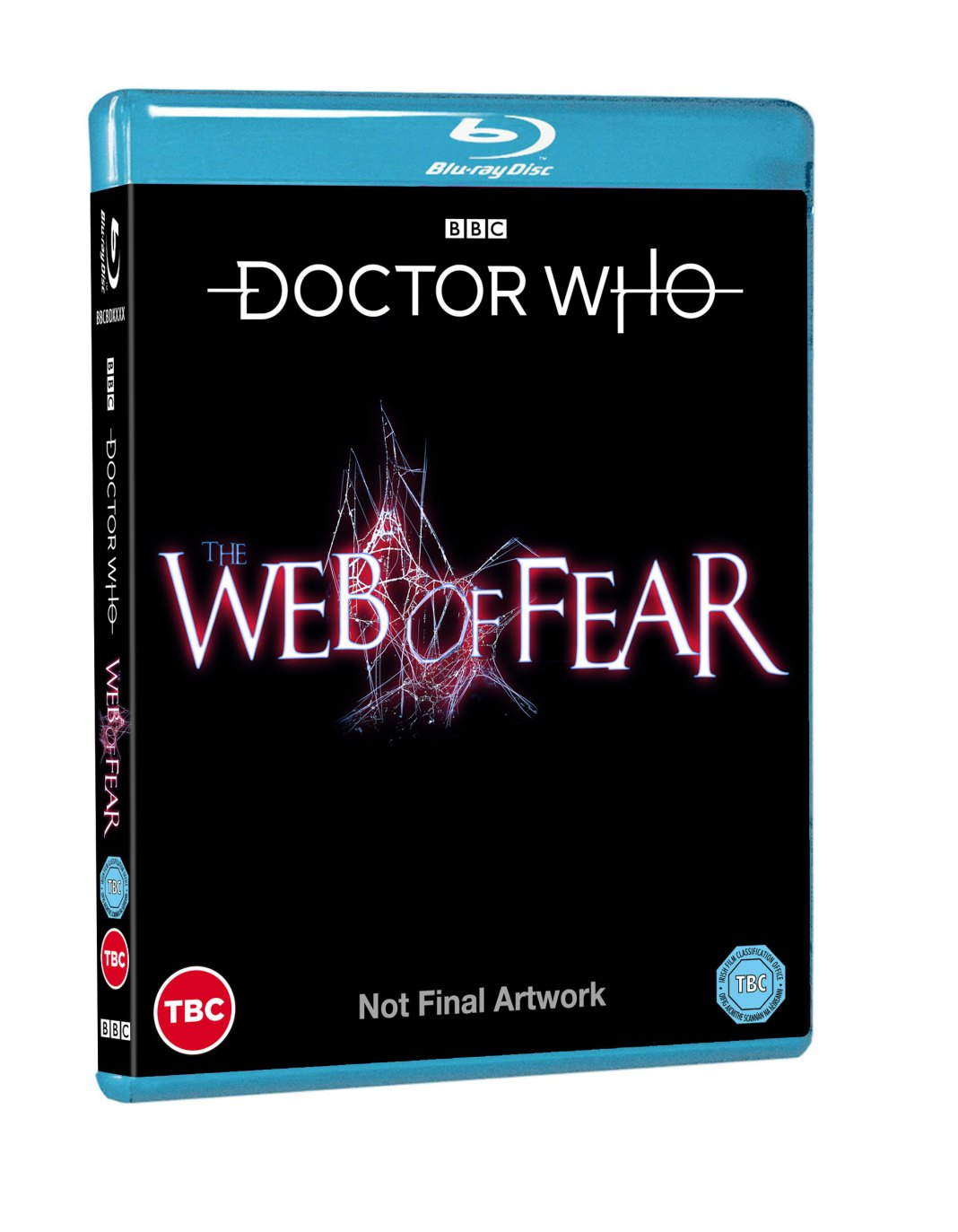 Placeholder cover for the Web of Fear Blu-ray release (c) BBC Studios Doctor Who Second Doctor Patrick Troughton Victoria Waterfield Jamie McCrimmon Yeti Great Intelligence Blu-ray