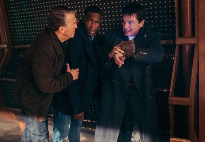 Doctor Who Special 2020 - Revolution Of The Daleks Graham O'Brien (BRADLEY WALSH), Ryan Sinclair (TOSIN COLE), Captain Jack Harkness (JOHN BARROWMAN) - (C) BBC - Photographer: James Pardon