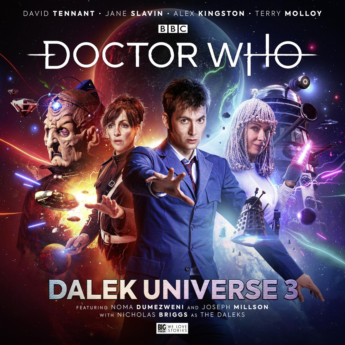 Doctor Who: Dalek Universe 3. Cover by Simon Holub (c) Big Finish Productions Tenth Doctor Davros Anya Kingdom River Song Movellan David Tennant