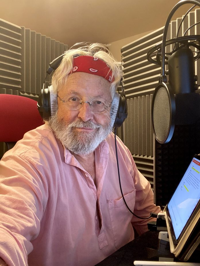 Terry Molloy during recording of Doctor Who: Dalek Universe (c) Big Finish Productions Davros
