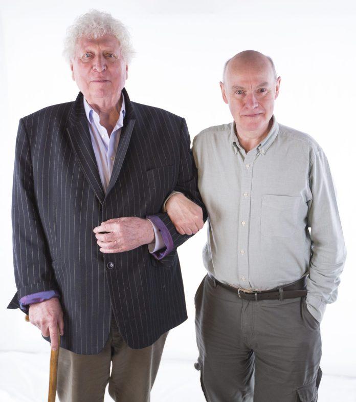 Tom Baker returns as the Doctor alongside writer Mark Platt for God of Phantoms (c) Paul Midcalf Fourth Doctor Doctor Who Philip Hinchcliffe Presents Big Finish Productions