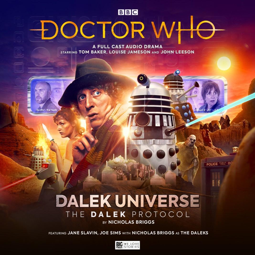 Doctor Who: The Fourth Doctor Adventures - Dalek Universe: The Dalek Protocol. Cover by Ryan Aplin. (c) Big Finish Productions Fourth Doctor Exxilon Space Security Service Anya Kingdom Mark Seven Joe Simms