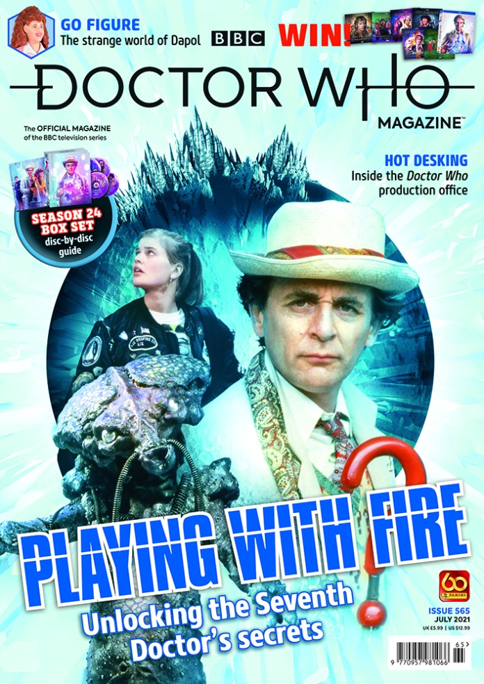 Doctor Who Magazine 565 (c) Panini Magazines Seventh Doctor Iceworld Dragonfire Ace Sylvester McCoy Sophie Aldred