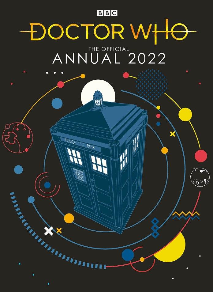 Doctor Who Annual 2022. (c) BBC Books TARDIS Police Box Thirteenth Doctor