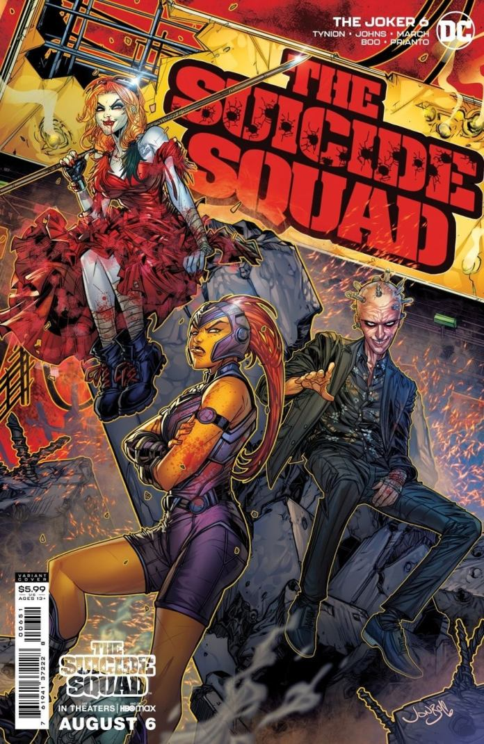 The Joker #6. The Suicide Squad variant cover by Jonboy Myers. (c) DC Comics Doctor Who Twelfth Doctor Peter Capaldi Thinker Mongal Harley Quinn Margot Robbie