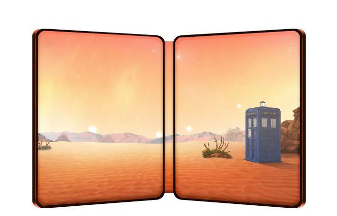 Doctor Who: Galaxy 4 Steelbook interior (c) BBC Studios First Doctor William Hartnell TARDIS