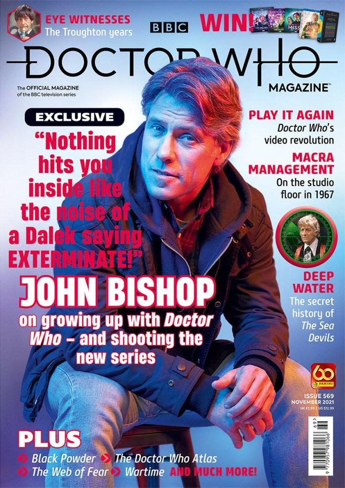 Doctor Who Magazine 569 (c) Panini Doctor Who Thirteenth Doctor Dan Lewis John Bishop