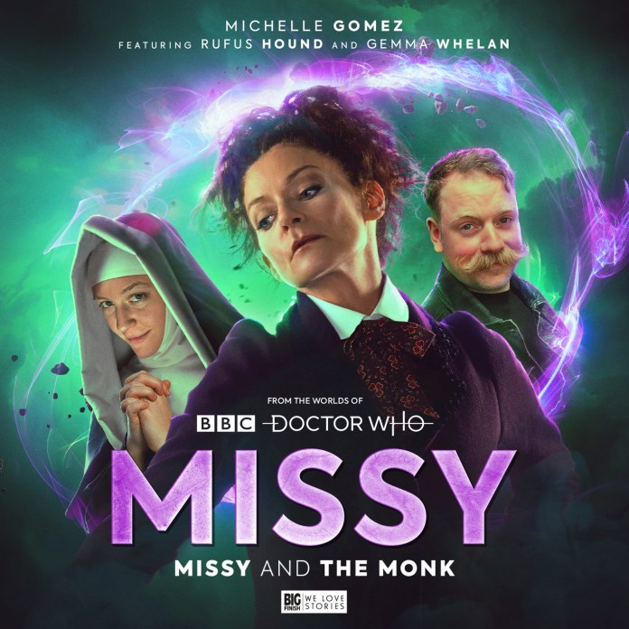 Missy: Missy and the Monk. Cover by Tom Webster. (c) Big Finish Productions Doctor Who Michelle Gomez Rufus Hound Gemma Whelan