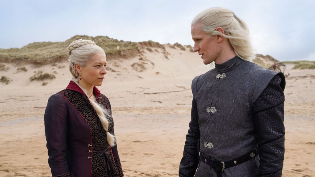 Matt Smith and Emma D'Arcy as Daemon and Rhaenyra Targaryen (c) HBO House of the Dragon Game of Thrones