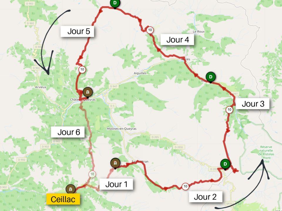 Itinéraire tour du queyras