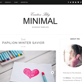 minimal clean blogger template