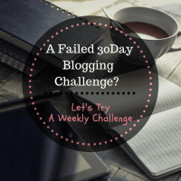 Moving from a failed 30 Day Blogging Challenge to Something better