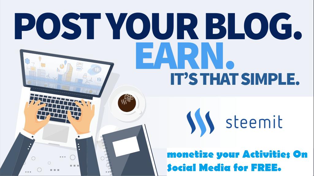 Make money online with steemit