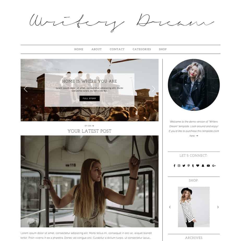 10 Gorgeous Feminine WordPress Themes For Lifestyle Blogs 5