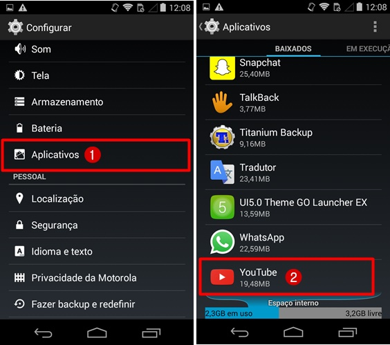 Video assistidos YouTube apagar