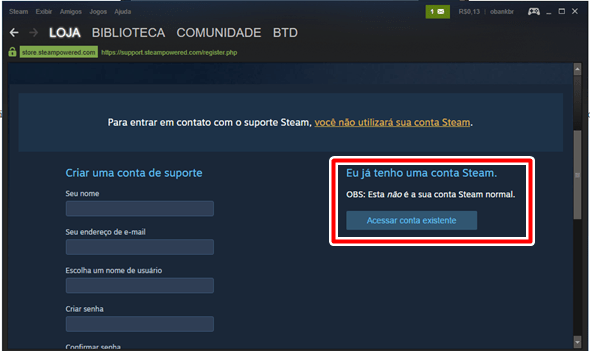 perdi chip celular steam