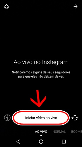 Transmissão de vídeo ao vivo no Instagram
