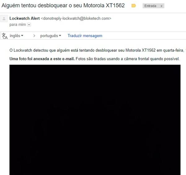 Foto e-mail desbloquear celular errar