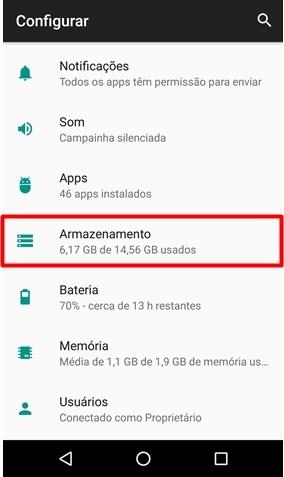 Escolher local armazenamento Android