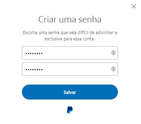 Mudar senha conta PayPal
