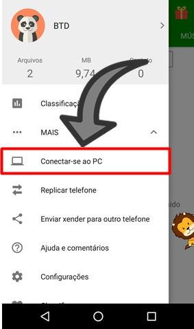Como passar arquivos do PC para o celular pelo Wifi