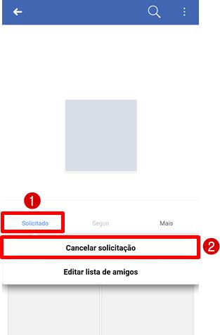 cancelar amizade facebook pelo android