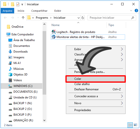 iniciar programas com computador windows 10