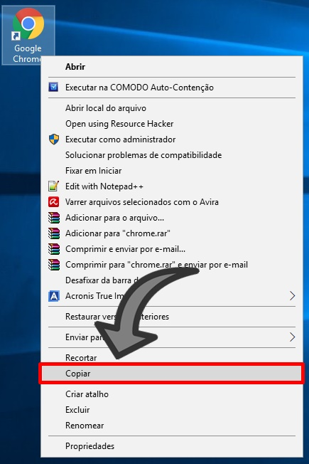 ligar programa com windows