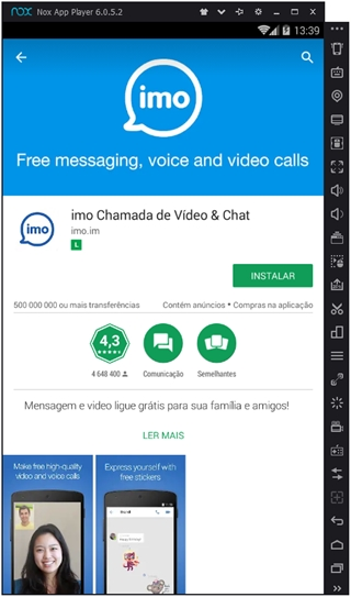Aplicativo IMO Chat e Chamadas de Video